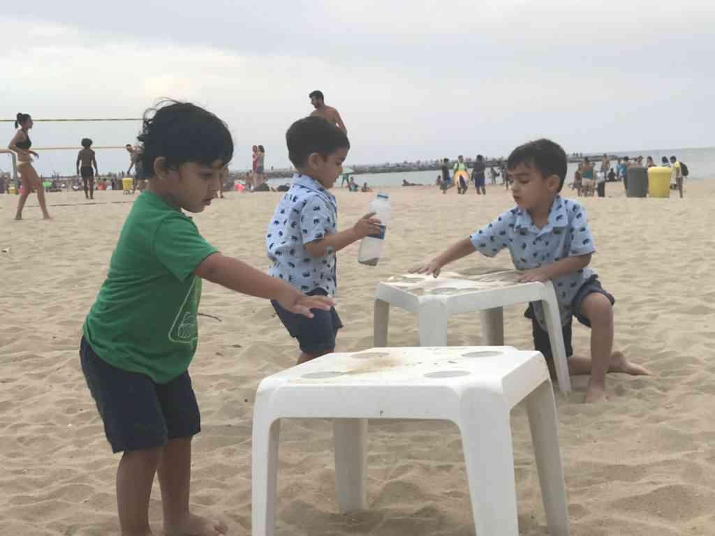 Kids will enjoy Barcelona's beaches.