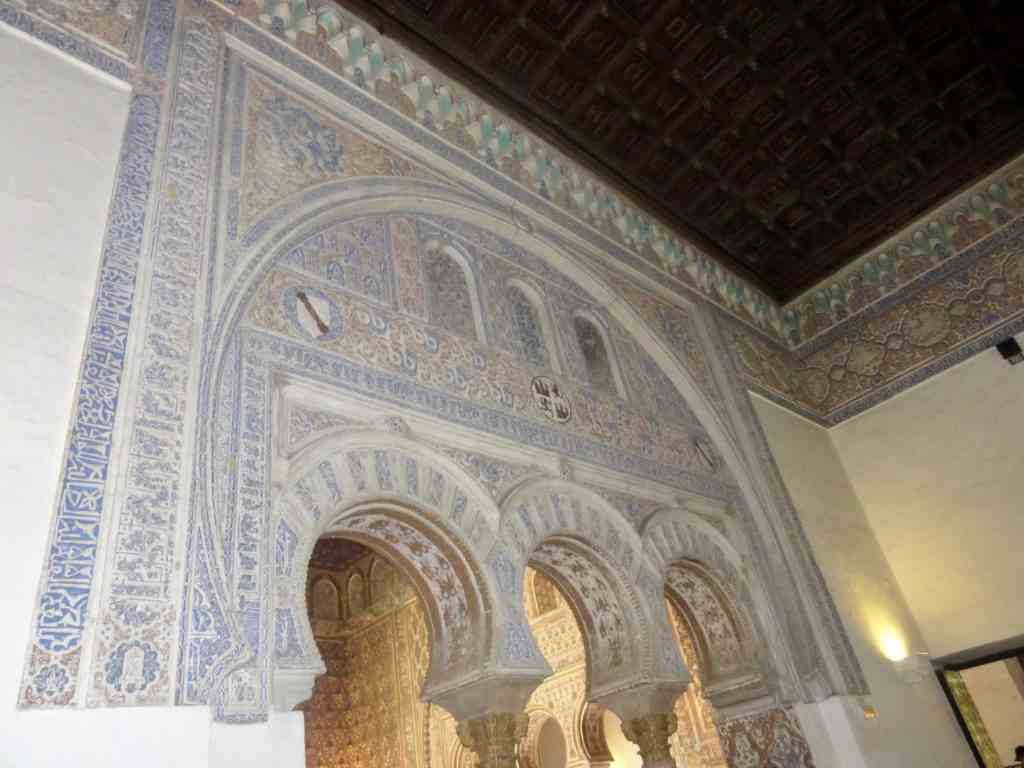 Incredible architecture inside the Alcazar