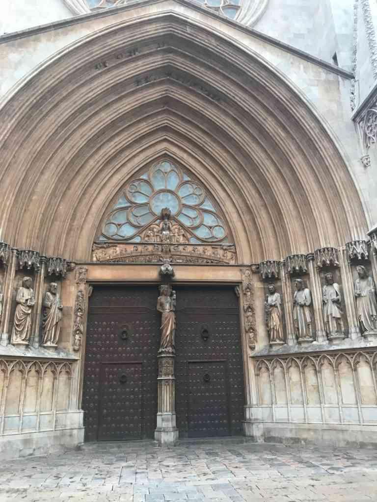 Magnificent door for the Cathedral de Tarragona