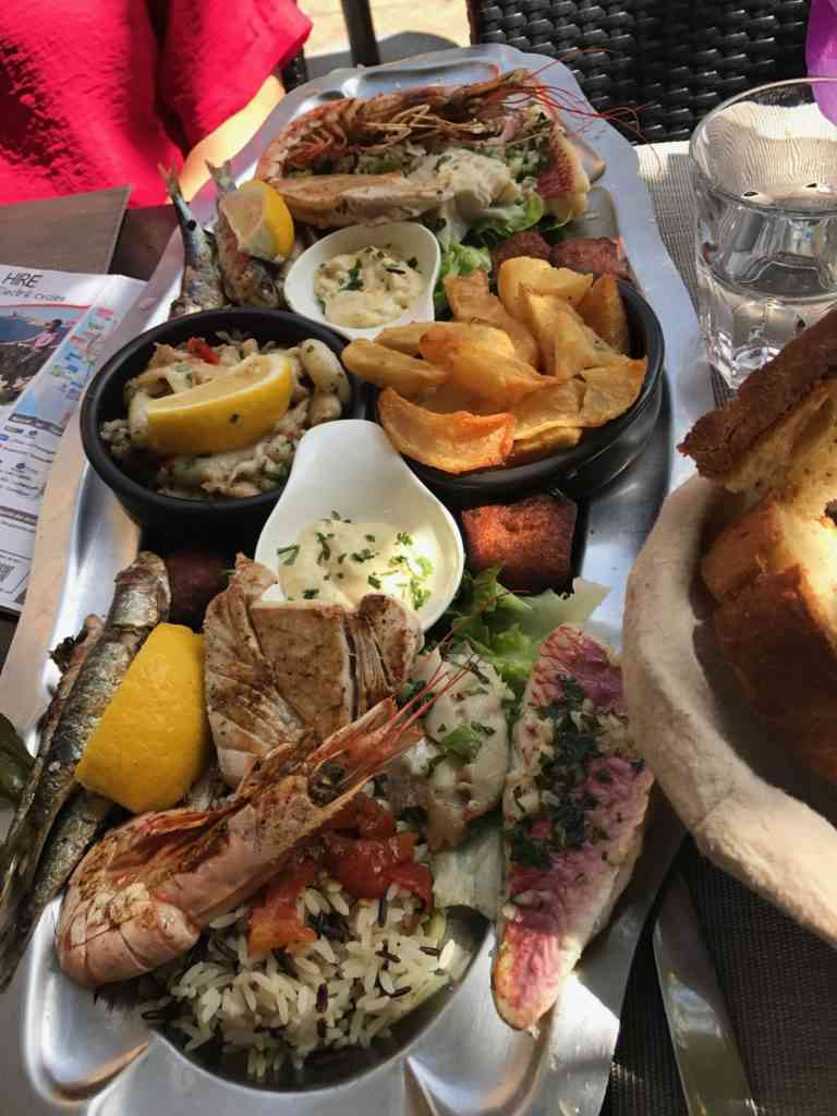 Our incredible sea food lunch in Marseille