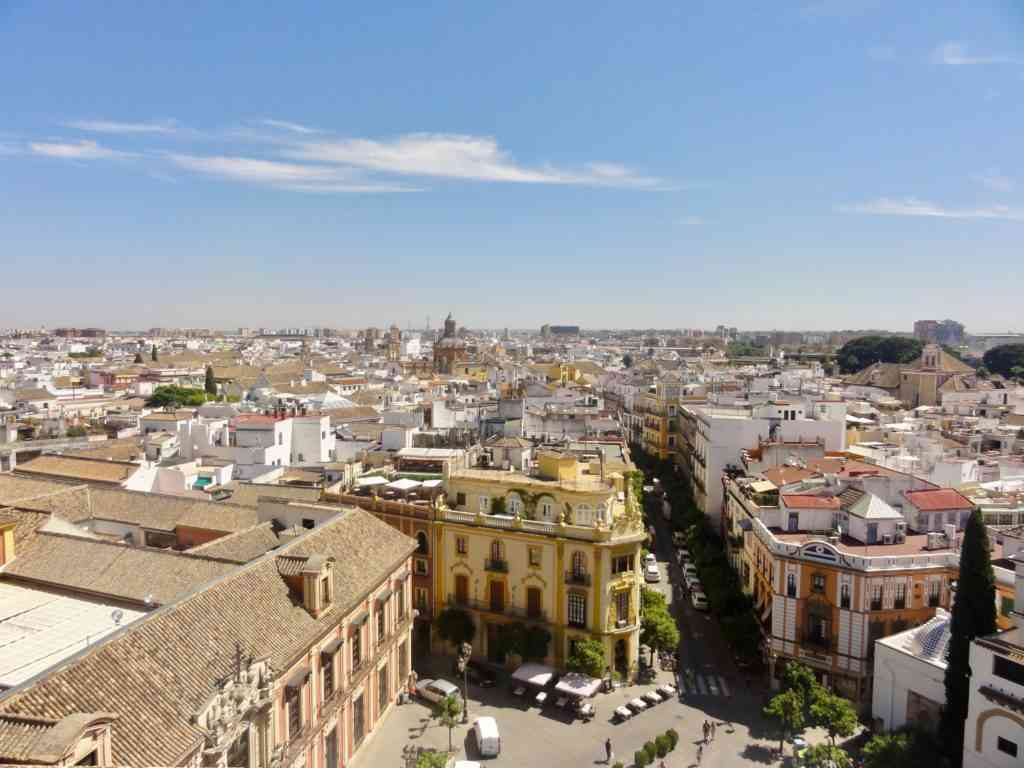 View of Seville from top of the Cathedral