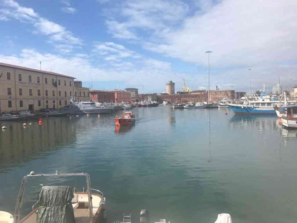 The beautiful old port of Livorno, Italy