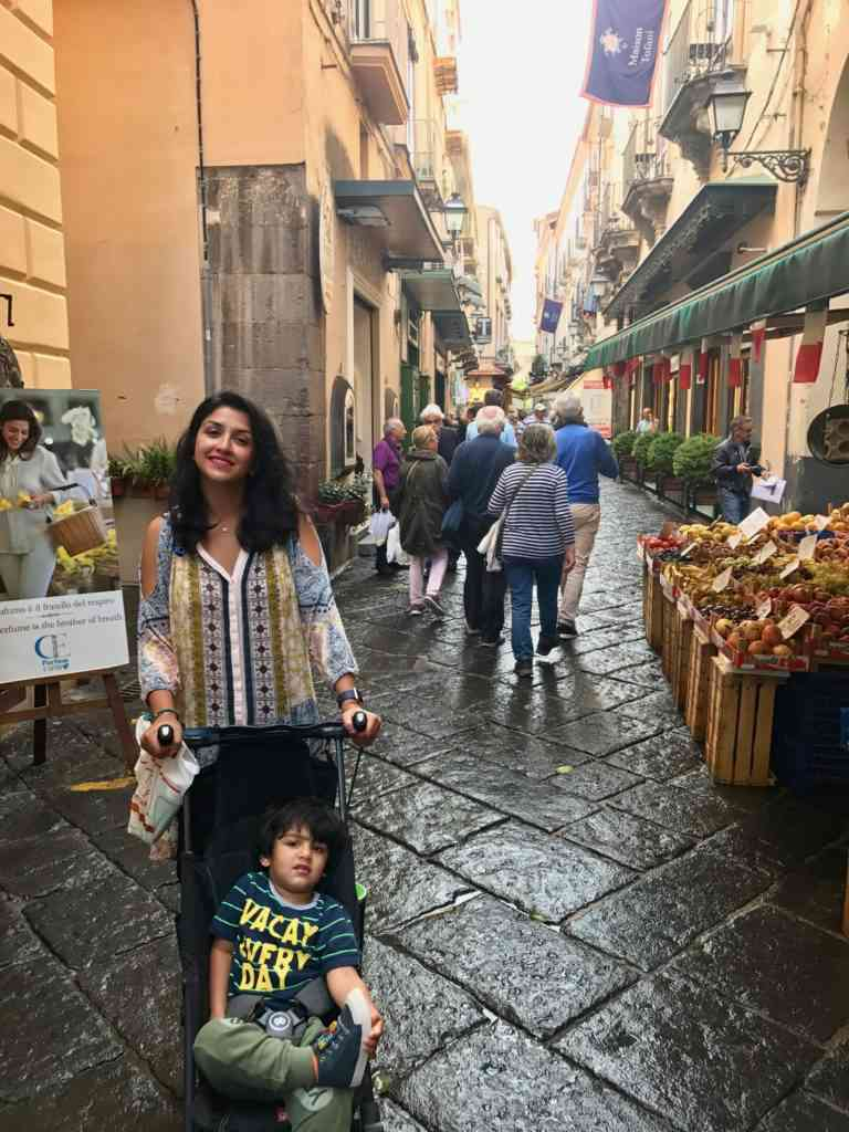 Enjoying Sorrento's streets