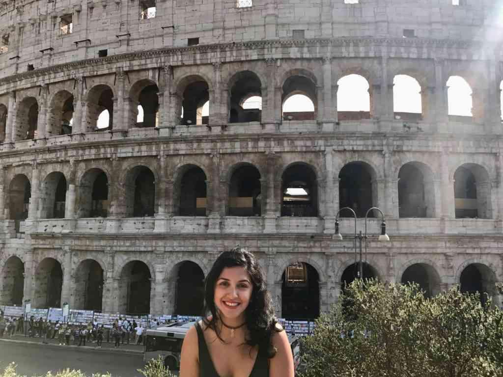 Natasha in front of the Colliseum