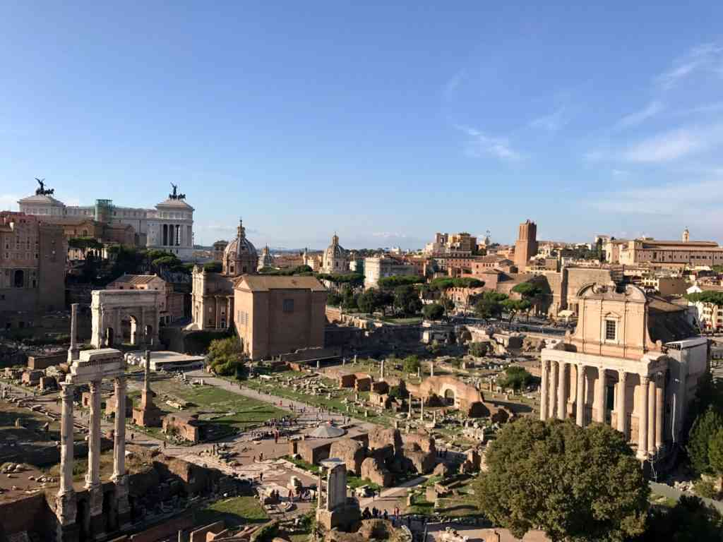 The Roman Forum from top of the hill