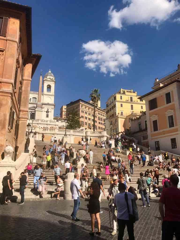 The Spanish Steps during our walking tour in Rome