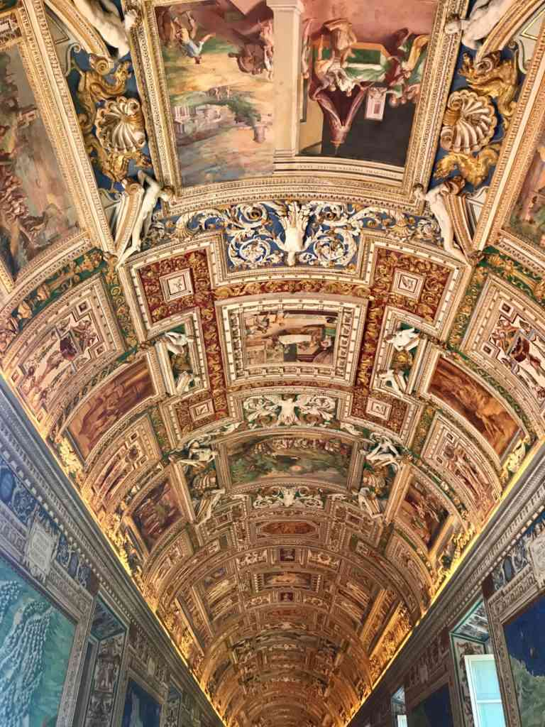The amazing map room with it's incredible ceiling