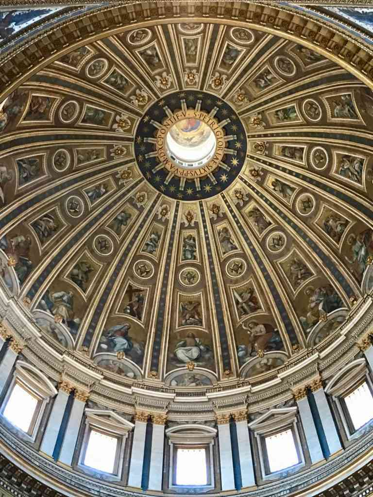 The incredible dome of St. Pete's Basilica