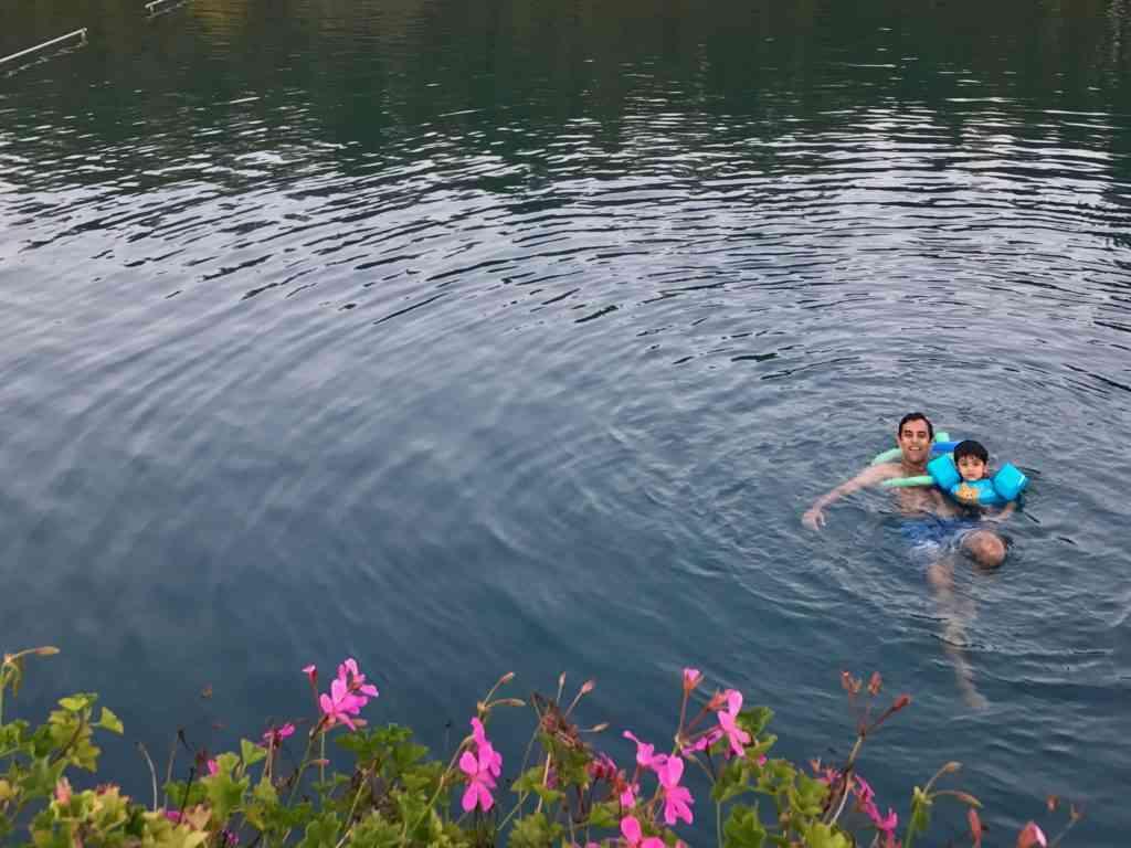 Enjoying the thermal lake of Heviz
