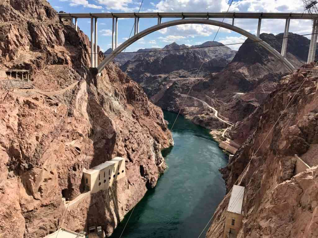 The beautiful Colorado river after Hoover Dam