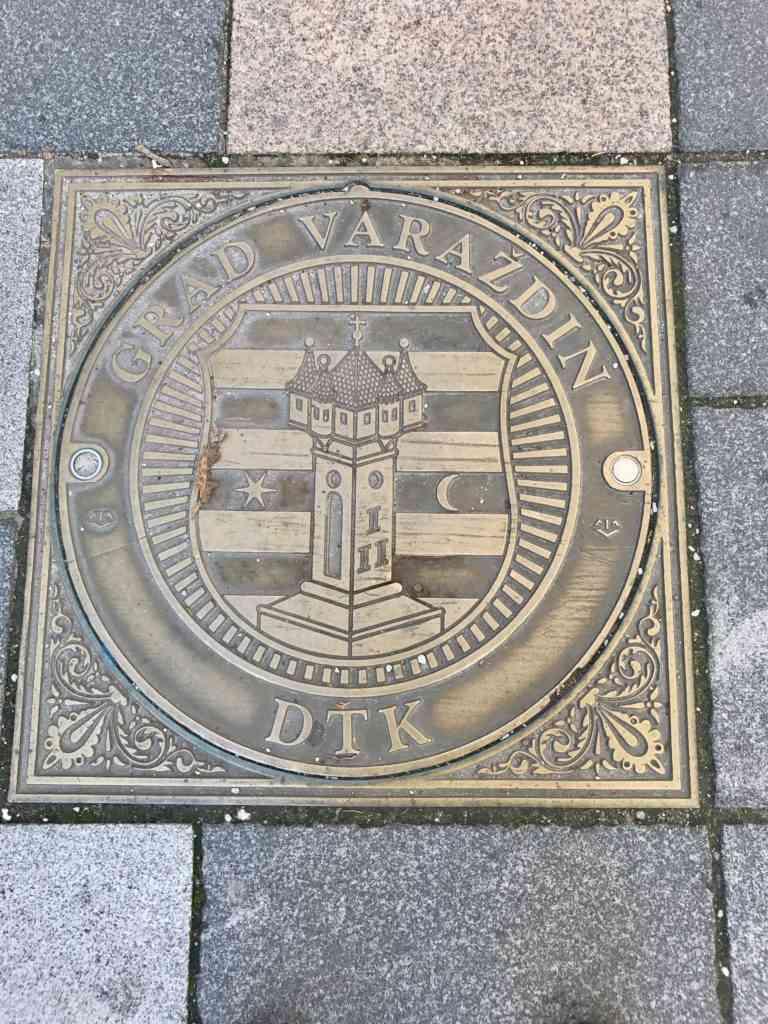 Varazdin symbols on the streets