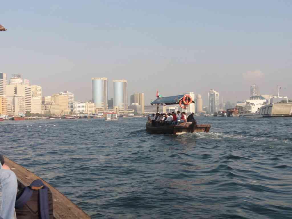 Crossing Dubai creek in the Abra