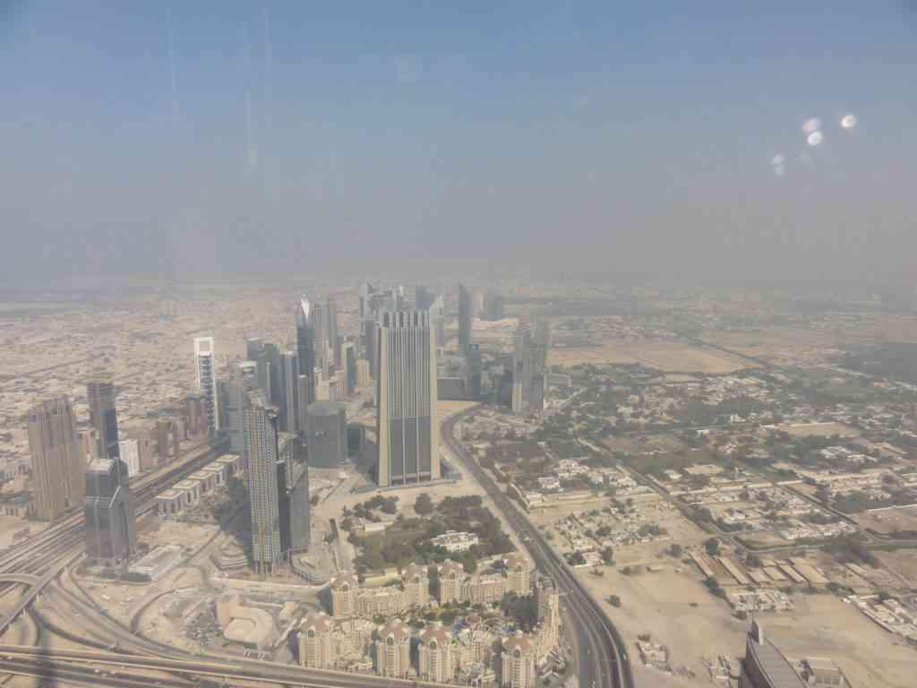 Incredible skyline of Dubai from Burj Khalifa