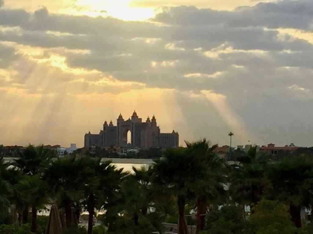 Incredible view of Altantis Dubai