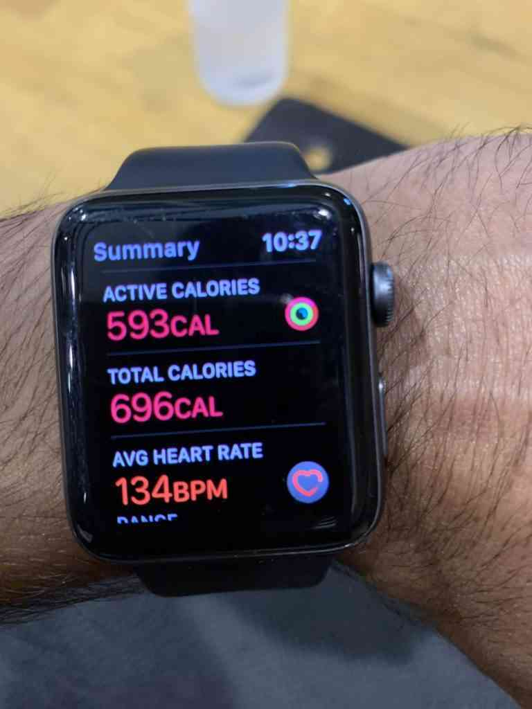 Keeping track of our calories using Apple Watch