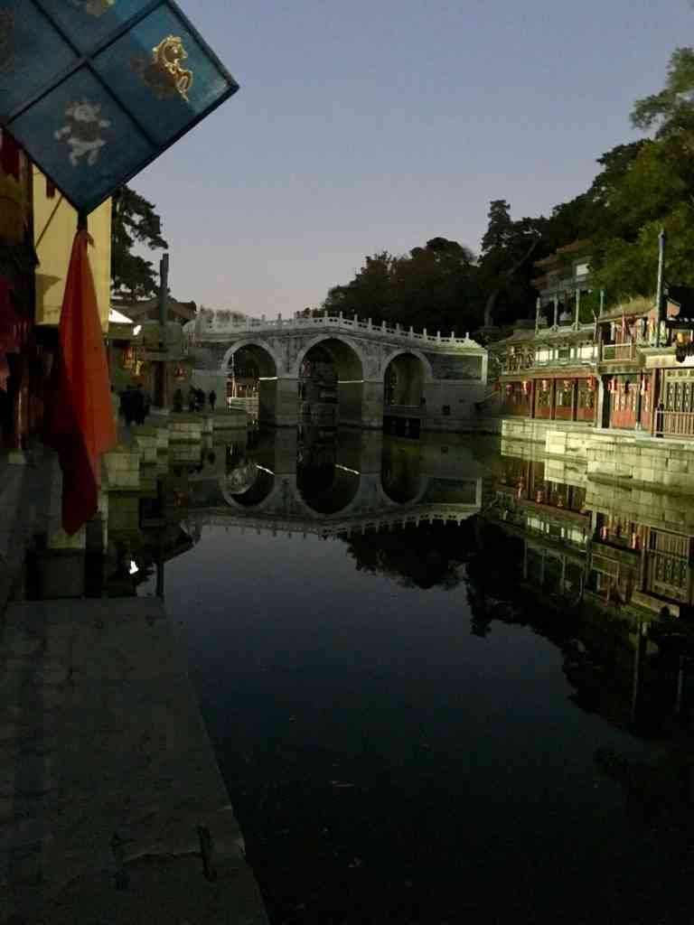 Wonderful Venice like shopping area at Summer Palace in Beijing