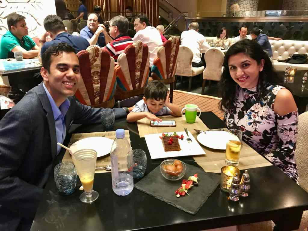 Enjoy Natasha's birthday dinner at Golden Peacock in the Venetian, Macau