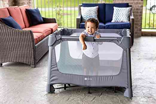 4moms Breeze Go Portable Travel Playard. One of our 6 best travel cribs for toddlers.