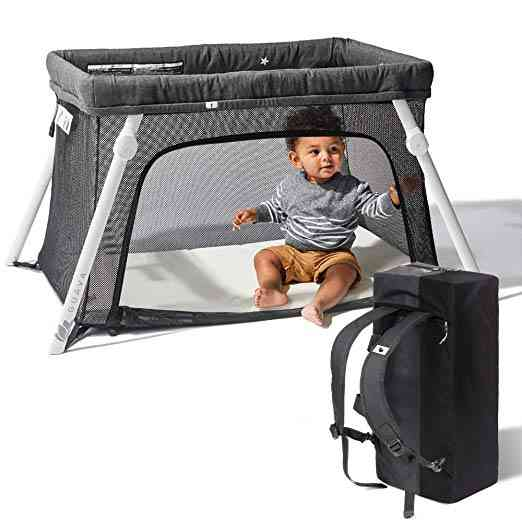 Lotus Guava Travel Crib. One of our 6 best travel cribs for toddlers.