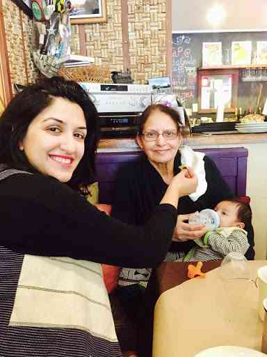traveling with an infant -- Aarav on his first road trip