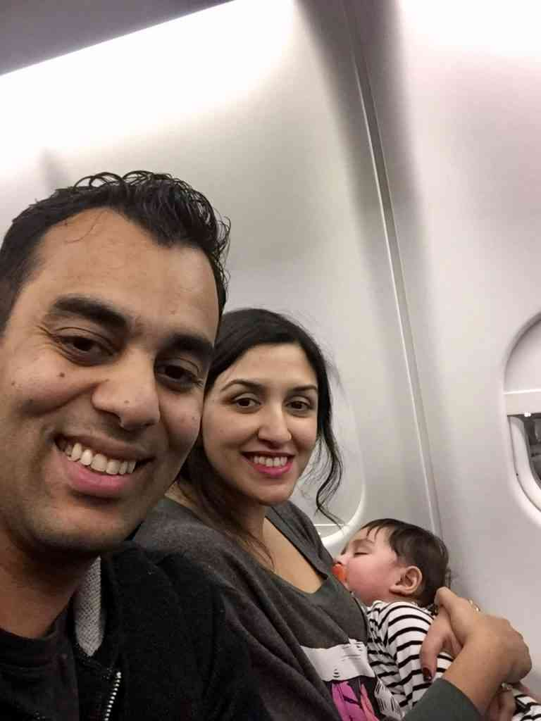 Flying with a newborn on a plane