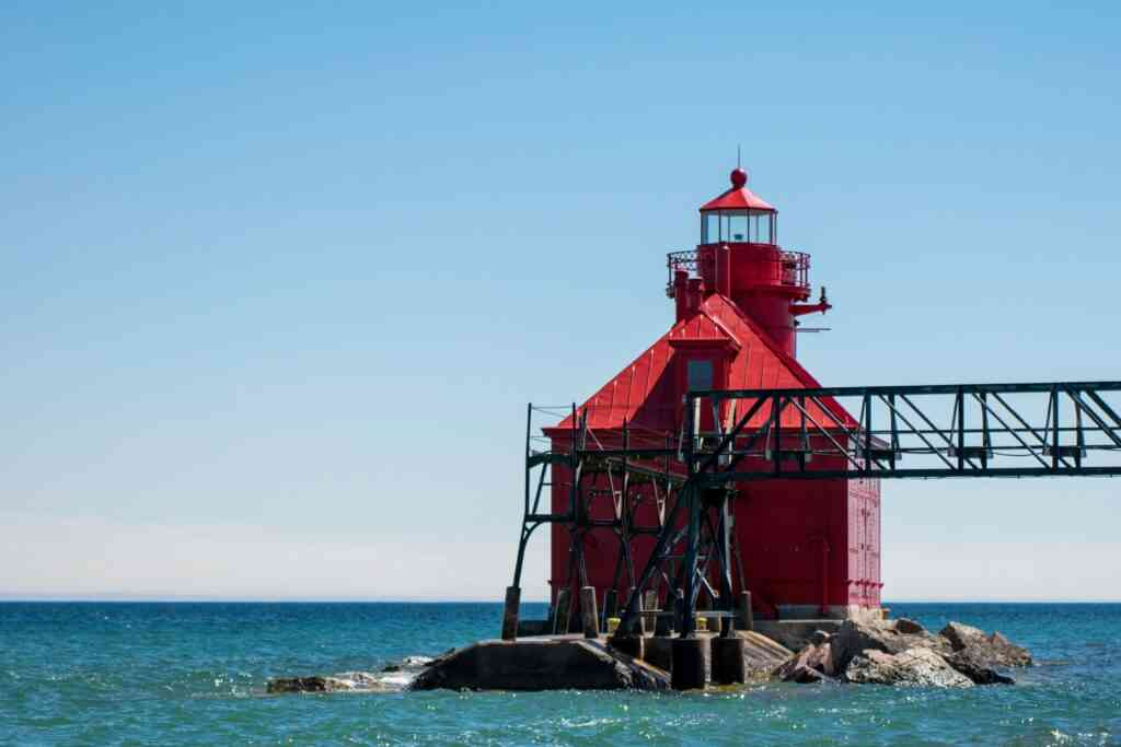 Visiting the Michigan Lighthouses is one of the best things to do during COVID