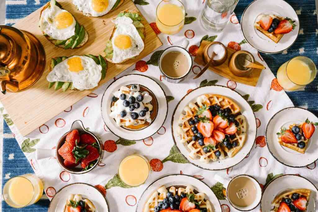 plan over the top breakfasts for a great covid staycation idea