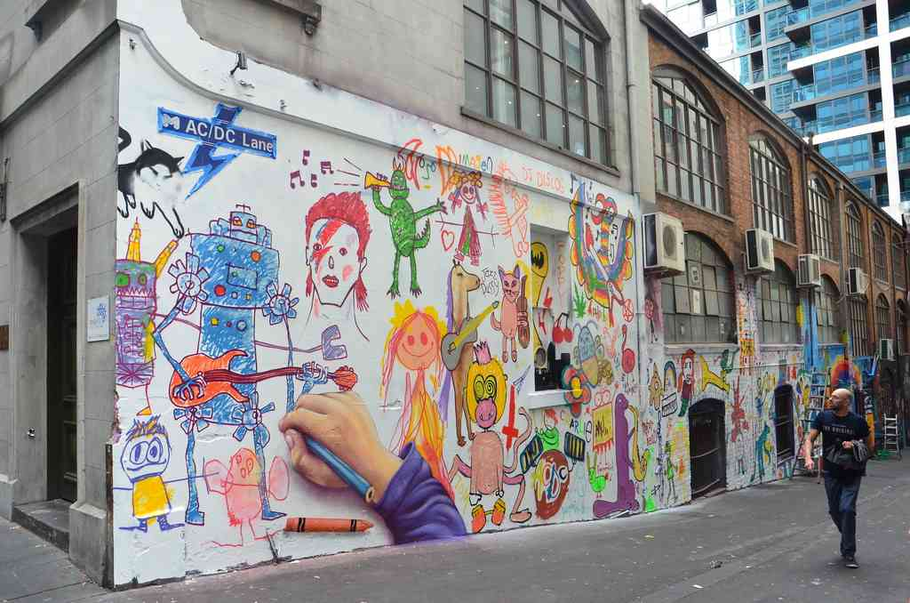 Visit the street art around Melbourne with kids