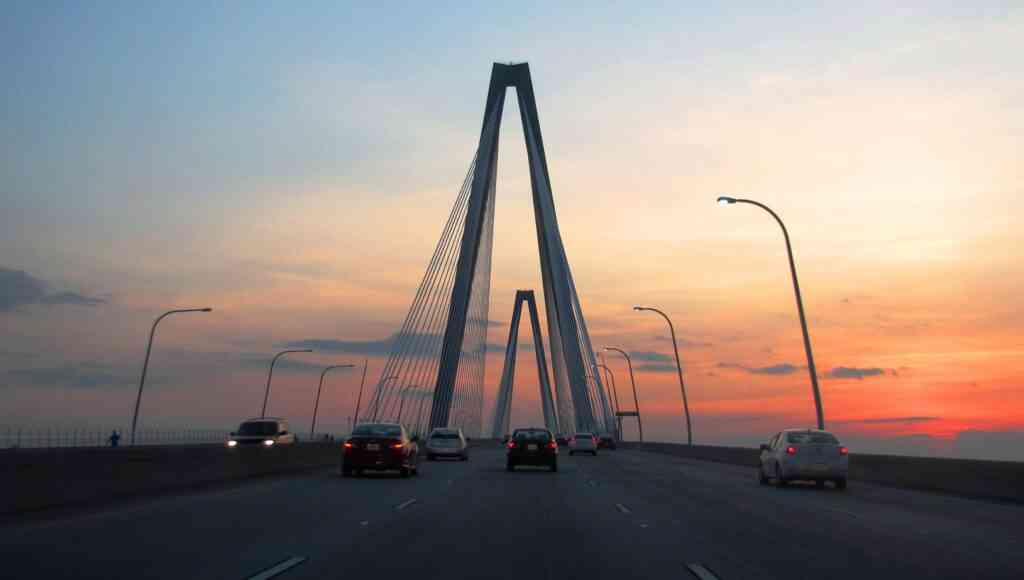 The Copper River Bridge is one of the best things to do in Charleston with kids