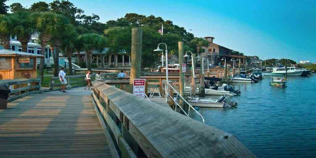The Murrells Inlet and the Marsh Walk are one of the best things to do in Myrtle Beach with kids